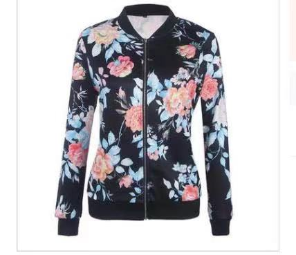 Women'S Printed Long Sleeve Short Jacket